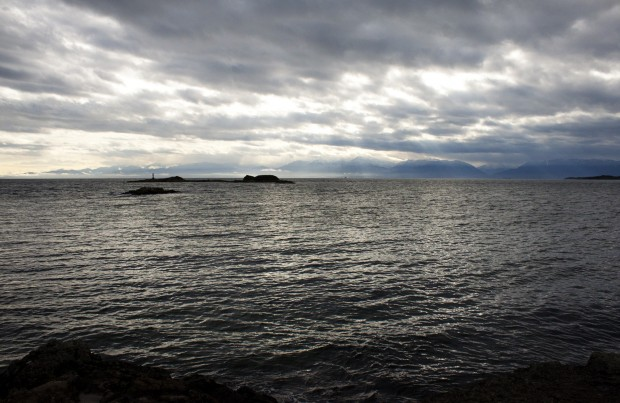 A view from the beach near Witty's Lagoon, just west of Victoria, BC