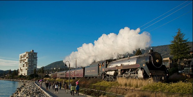 The Royal Hudson in its operating days with BC Rail