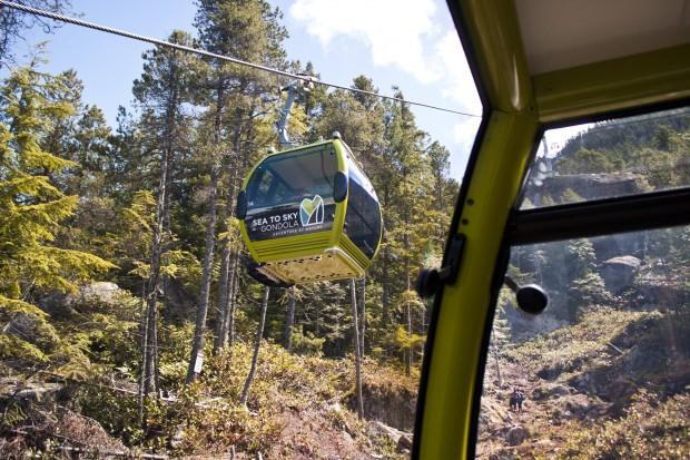 Gondola Cable Cars Passing