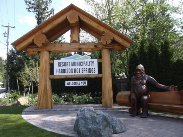 Bigfoot Carving at Harrison Hot Springs
