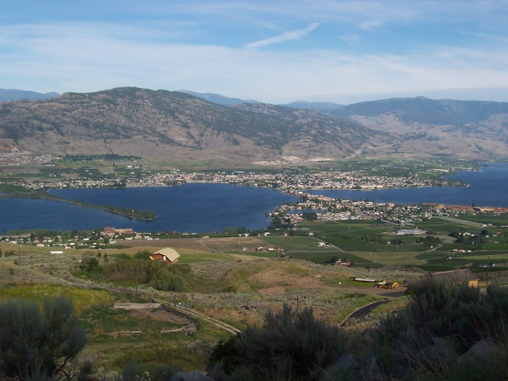 Osoyoos BC from lookout