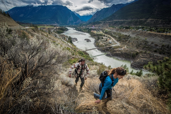 Venture off route in Lillooet for a hike along the Fraser River. Destination BC/Blake Jorgenson