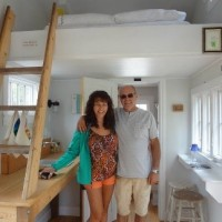 Guests Inside Tiny House
