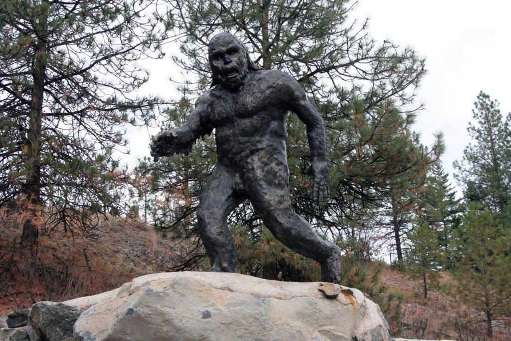 Sasquatch Statue Hwy 3 near Osoyoos