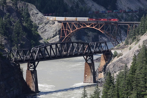 Train Spotting: Highway 1 Vancouver to Lytton in British Columbia, Canada