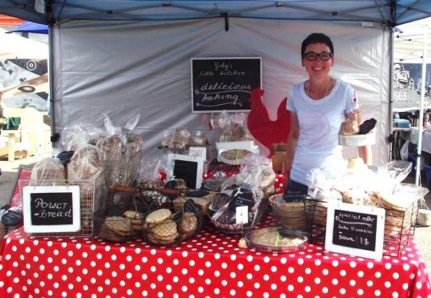 Baked goods at the South Cariboo Farmers' Market