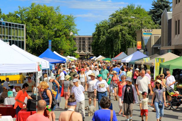 Street view of Penticton Farmers' Market