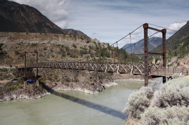 Old Suspension Bridge by C Hanchey