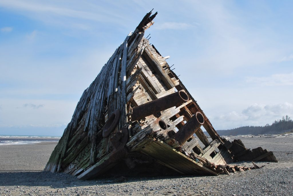Pesuta Shipwreck, Haida Gwaii