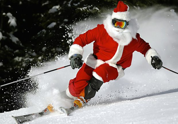 Ski with Santa at Kicking Horse Mountain Resort, Golden