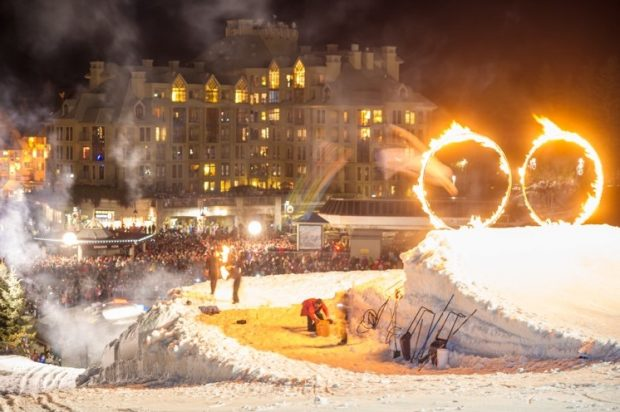 Whistler Fire and Ice Show at Summit Lodge