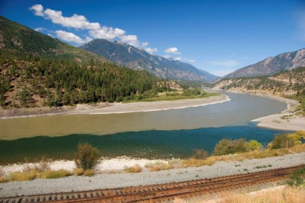 Meeting of the Fraser and Thompson Rivers in Lytton by Picture BC