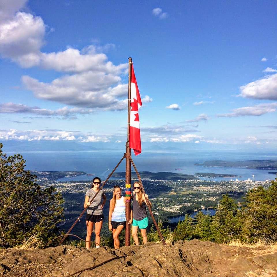 On top of Mt. Benson, Nanaimo, BC