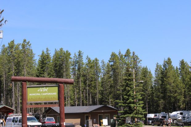 The main lot of the Elkford Municipal Campground in Elkford.
