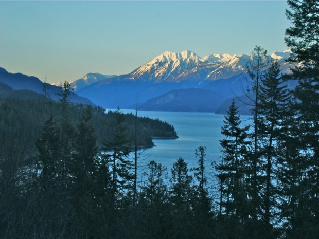 The Northern view of Kaslo from Gatehouse-on-the-Point.