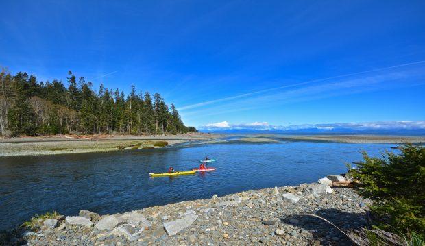 Kayaks at the Pacific Playground Resort & Marina in Black Creek.