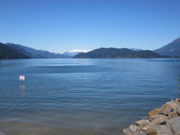 The lake at Harrision Hot Springs.