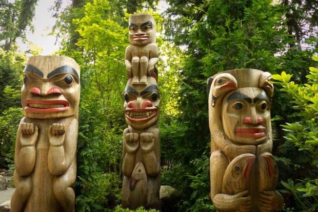 Three totems in Hope.