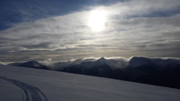 Eureaka Peak in the winter, near the Crooked Lake Resort in Horsefly.