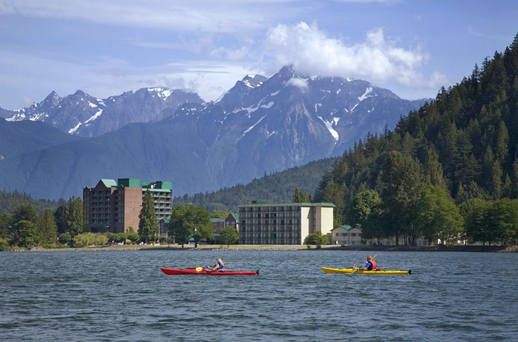 The Majestic Mountains over-looking the Harrison Hot Springs