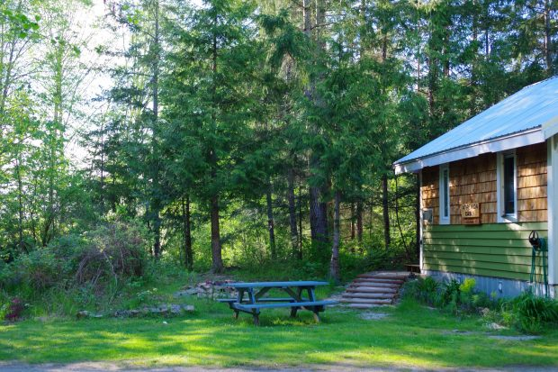 The Atrevida Cabin at the Sunlund By-The-Sea RV Campground in Lund.