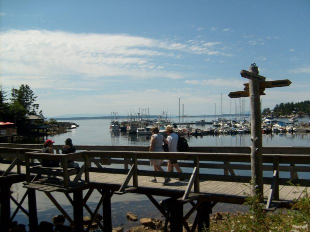The Lund Harbour near Sunlund By-The-Sea RV Campground.