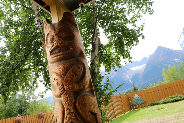 Totem Pole at the Glacier View RV Park in Smithes.