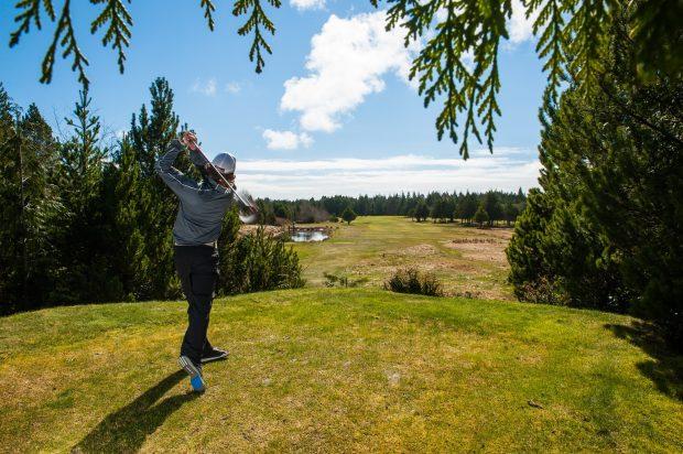 Golfing at Long Beach in Tofino.
