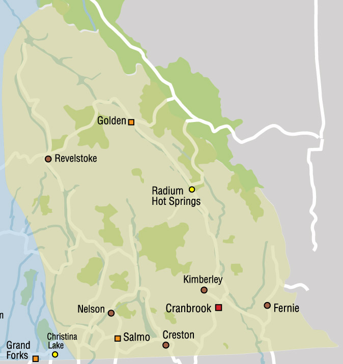 Kootenay Rockies Map