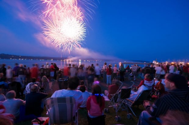 Campbell River Fireworks Photo Province of BC