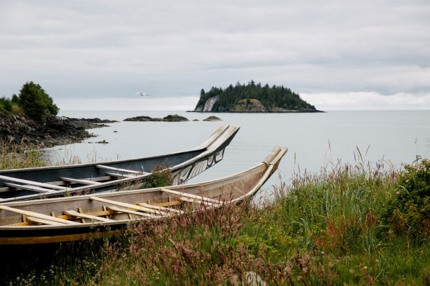 Haida Canoes, Skidegate, Haida Gwaii, Photo Destination BC Grant Harder