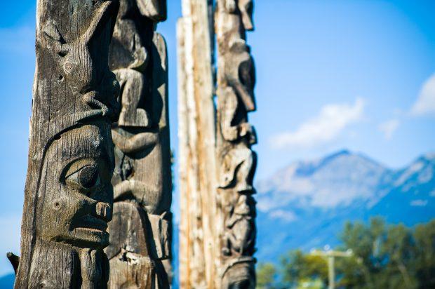 Kitwanga Totems Photo Tim Swanky