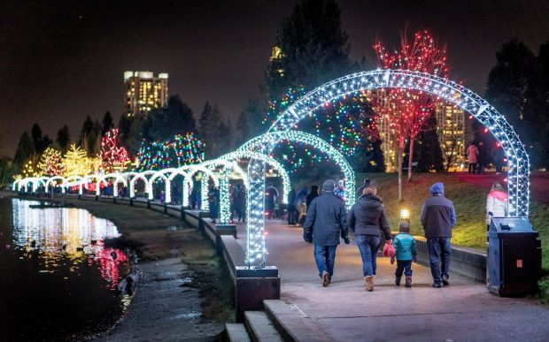 Lights at Lafarge Lake. Photo: City of Coquitlam