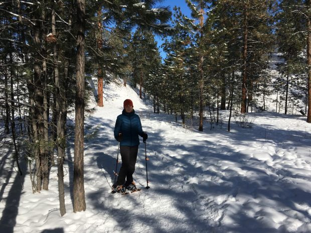 Snowshoeing on the Trans Canada Trail, Summerland