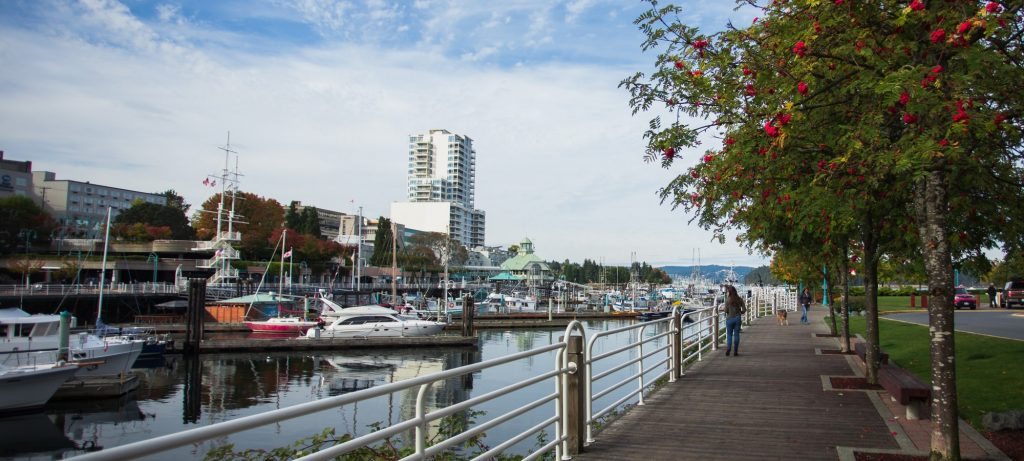Nanaimo's spectacular waterfront walkway Photo Credit - Mike Anderson header